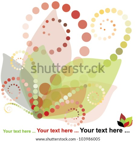 abstract floral background, spring vector illustration - stock vector