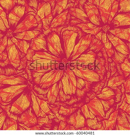 abstract floral background. vector illustration. - stock vector