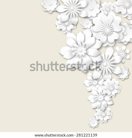 abstract floral background, vector illustration, eps 10 with transparency and gradient meshes
