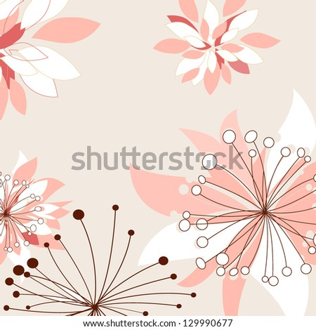 Abstract floral background with birds , EPS10