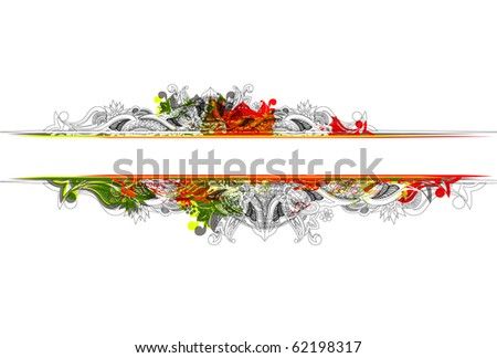 abstract floral banner with place for your text. vector illustration - stock vector