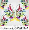 abstract floral butterfly vector - stock vector