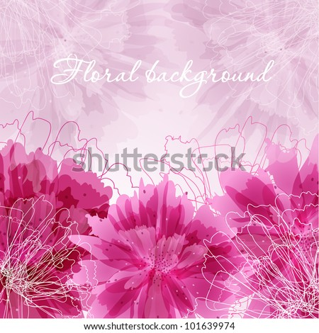 Abstract floral card