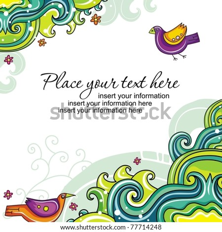 Abstract floral card 18 (series) - stock vector