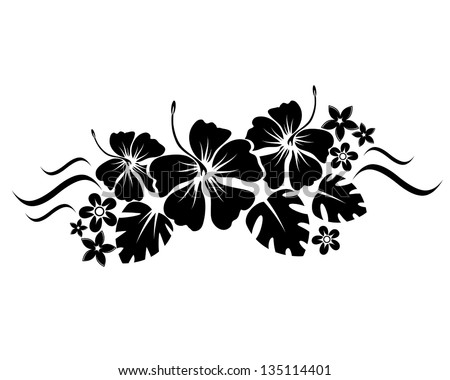 abstract floral composition for design - stock vector