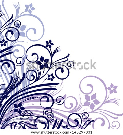 Abstract floral  corner - stock vector