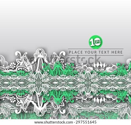 Abstract Floral Design, eps10 vector - stock vector