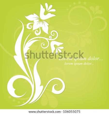 Abstract floral design. Vector illustration. Flora background. Flower pattern. - stock vector
