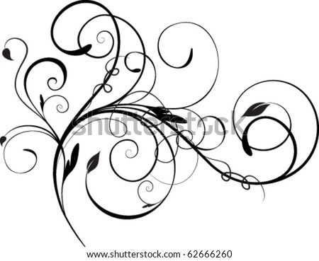 abstract floral element - stock vector