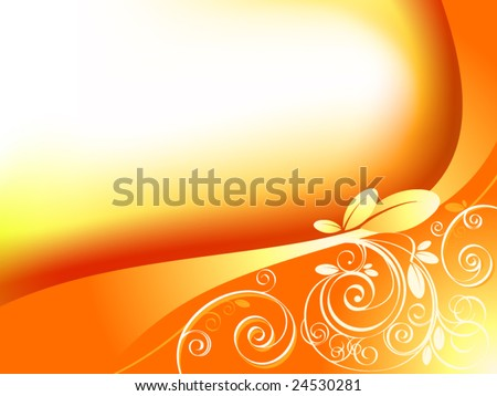 Abstract floral elements - vector - stock vector
