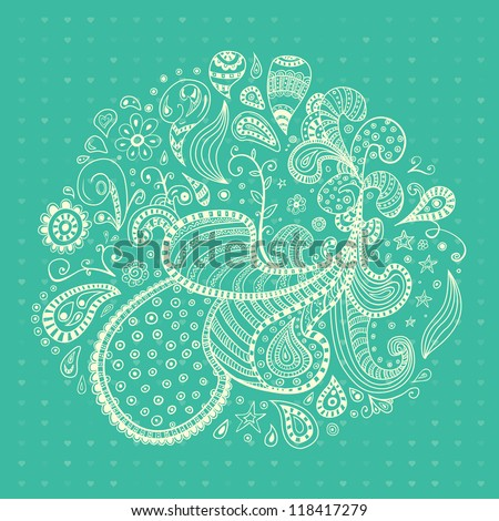 Abstract floral elements. Vector wave ornaments. Floral theme for designs. - stock vector
