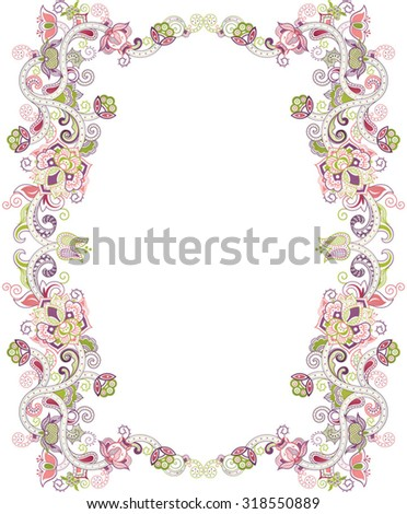 Abstract Floral Frame - stock vector
