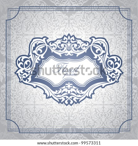 abstract floral frame vector illustration - stock vector