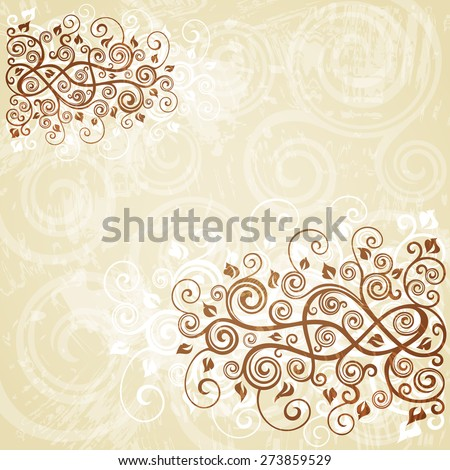 Abstract floral grunge background.