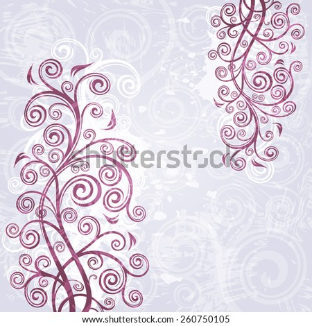 Abstract floral grunge background illustration - stock vector