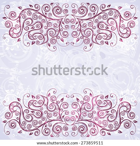 Abstract floral grunge background illustration. - stock vector