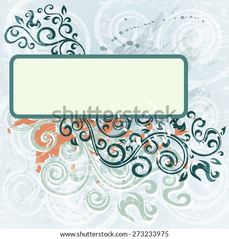Abstract floral grunge illustration. - stock vector