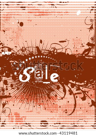 abstract floral grunge sample of sale banners with place for your text. - stock vector