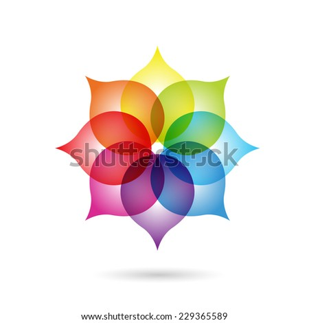 Abstract floral logo element. Vector illustration. - stock vector