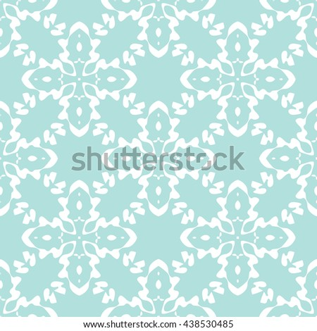 Abstract floral ornament seamless pattern of Powder Blue color for wallpapers and background.