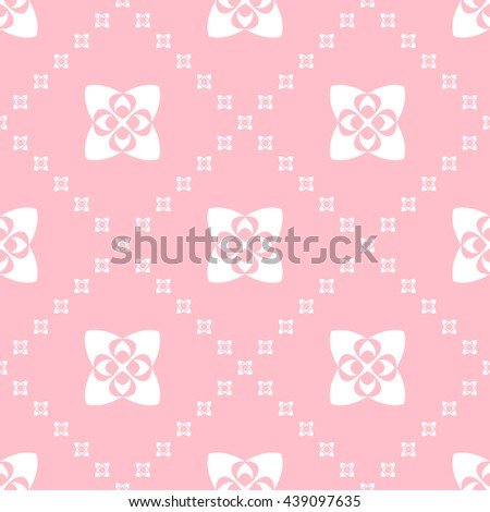 Abstract floral ornament seamless pattern with diagonal floral ornament of pink color for wallpapers and background. - stock vector