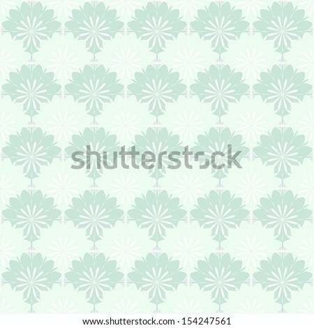 Abstract floral pattern. Seamless vector background. - stock vector