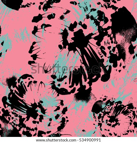 Abstract floral seamless pattern. Vector illustration.