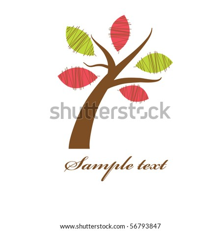 Abstract floral tree - stock vector
