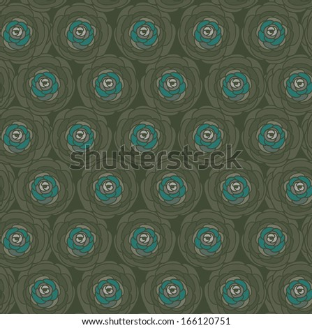 Abstract floral vector seamless pattern.