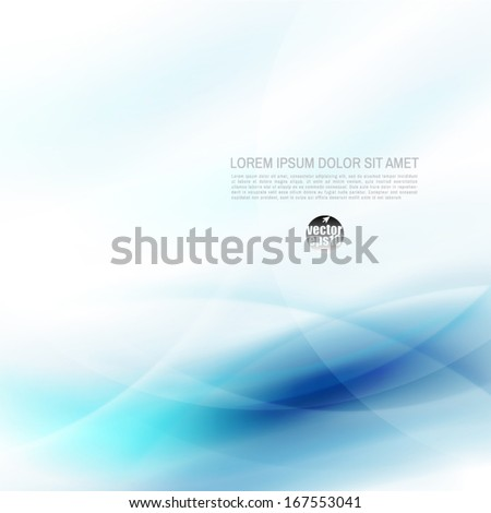 Abstract flow blue and space for your text, vector illustration - stock vector