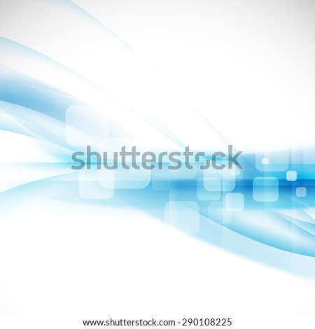 Abstract flow blue background for technology or science concept presentation, Vector illustration  - stock vector
