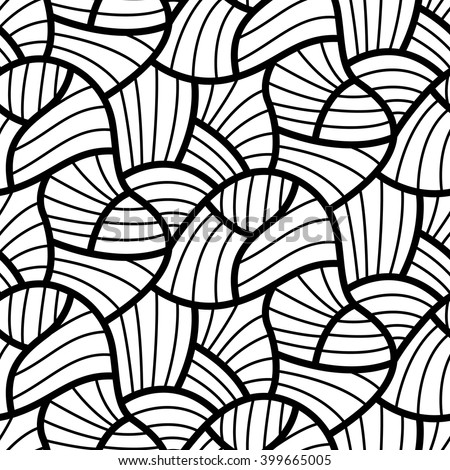 Abstract flow lines seamless pattern