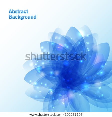 Abstract flower background - stock vector