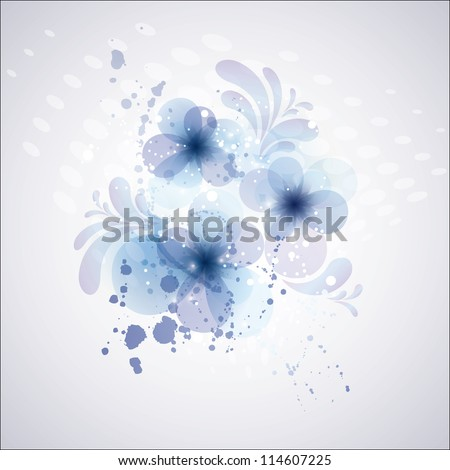 Abstract flower background. Card for mothers day. Wedding invitation card. - stock vector