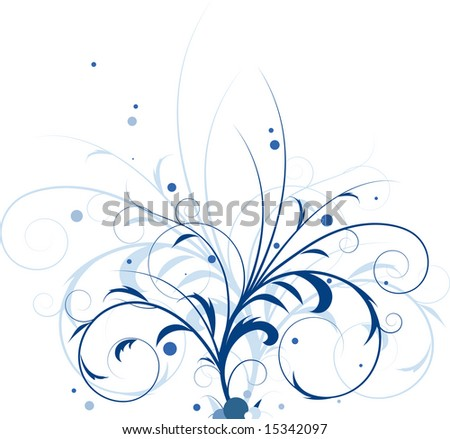 Abstract flower background, element for design.