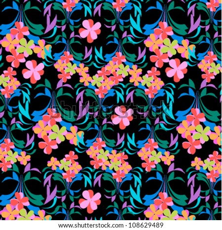 Abstract flower background. Seamless pattern. flower vintage style - stock vector