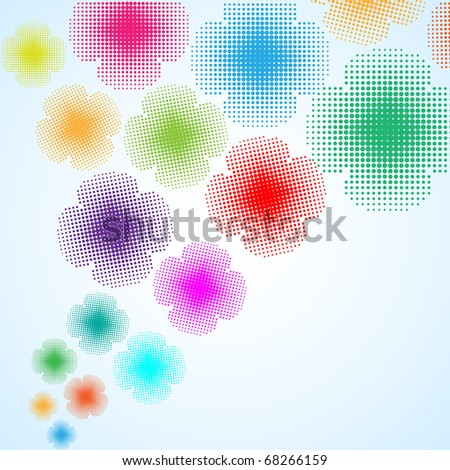 abstract flower background, vector illustration - stock vector