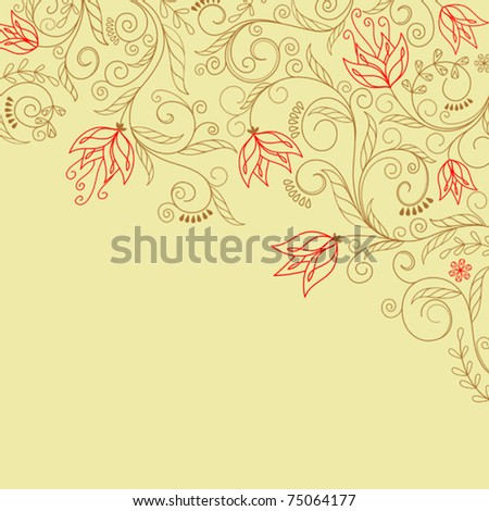 Abstract flower background with decoration elements for seasonal design. Jpeg version also available in gallery