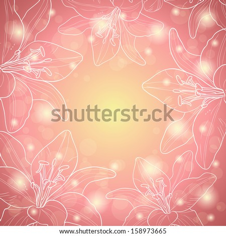Abstract flower background with place for your text