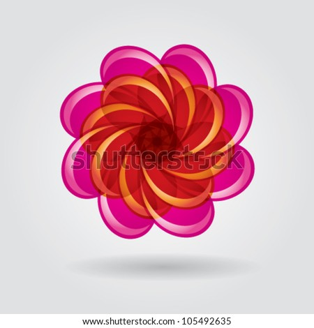 abstract flower circle vector - stock vector