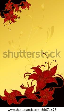 abstract flower Illustration vector spring summer - stock vector