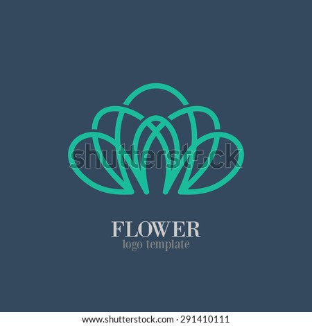 Abstract Flower Logo template - stock vector