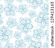 Abstract flower seamless flower pattern background - stock vector