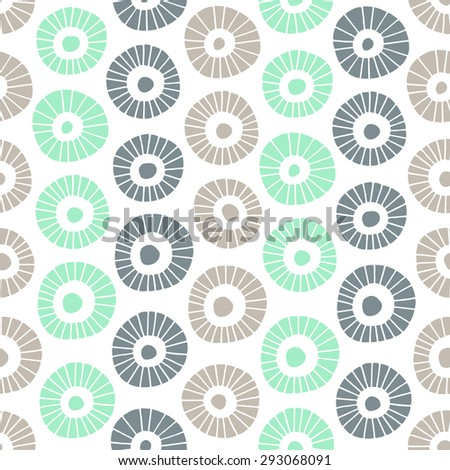 Abstract flower seamless pattern. Vector illustration.  - stock vector