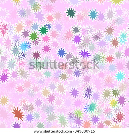 abstract flower seamless vector pattern - stock vector