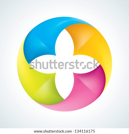 Abstract flower signs. Corporate icons - stock vector