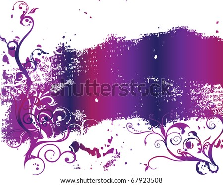 abstract flower spring illustration vector pink - stock vector