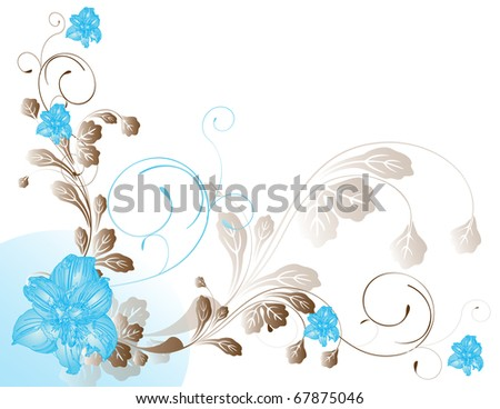 abstract flower spring summer autumn illustration vector blue - stock vector