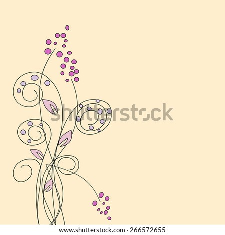 Abstract flowers on the fantasy background - stock vector