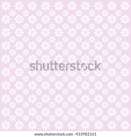 Abstract flowers pattern. Floral background. Vector image. - stock vector